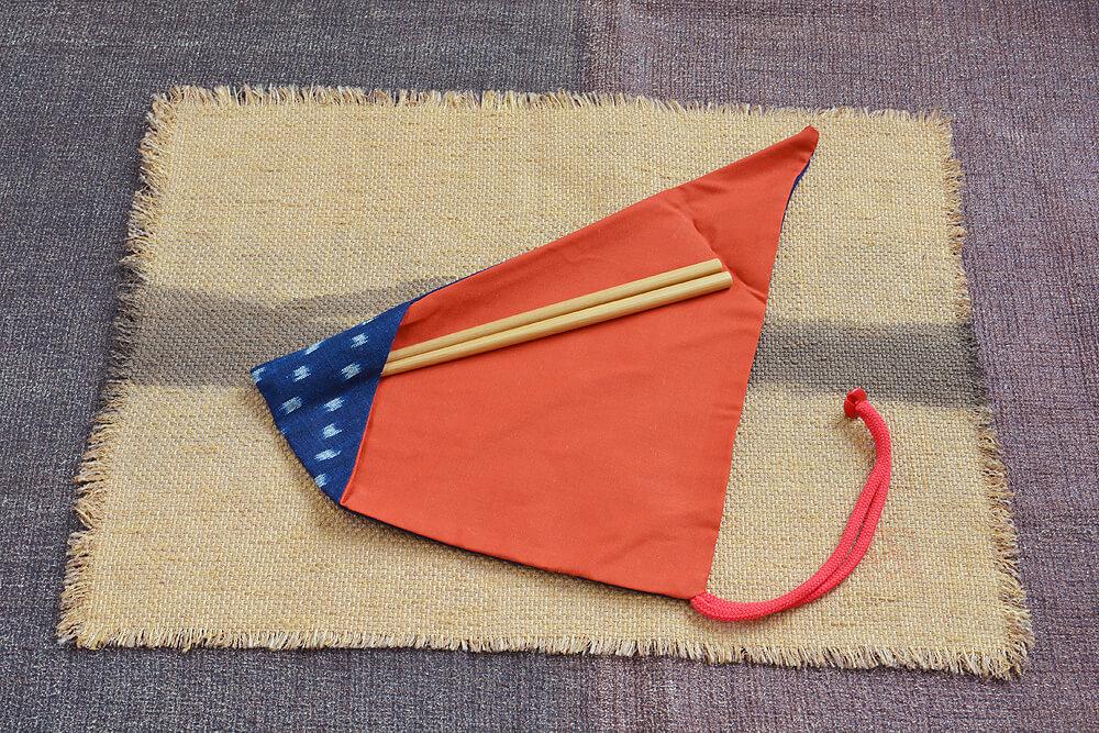 箸の包み方1