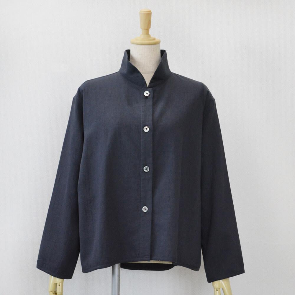 ダブルガーゼジャケット 綿 濃藍